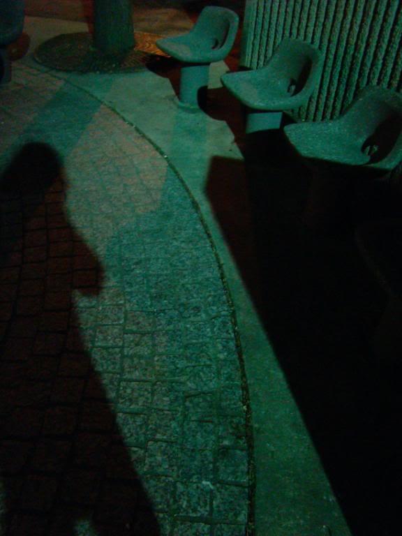 senior park at dark