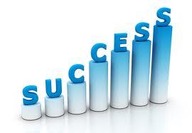 Success blue