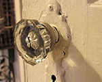 Jewel-like glass doorknob