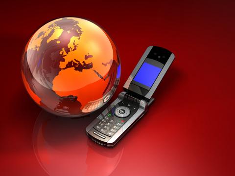 Phone and globe