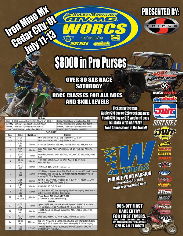 WORCS Racing Iron Mine MX