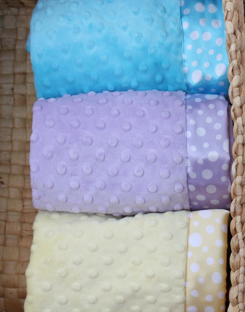 Satin Multi Dot Blankets