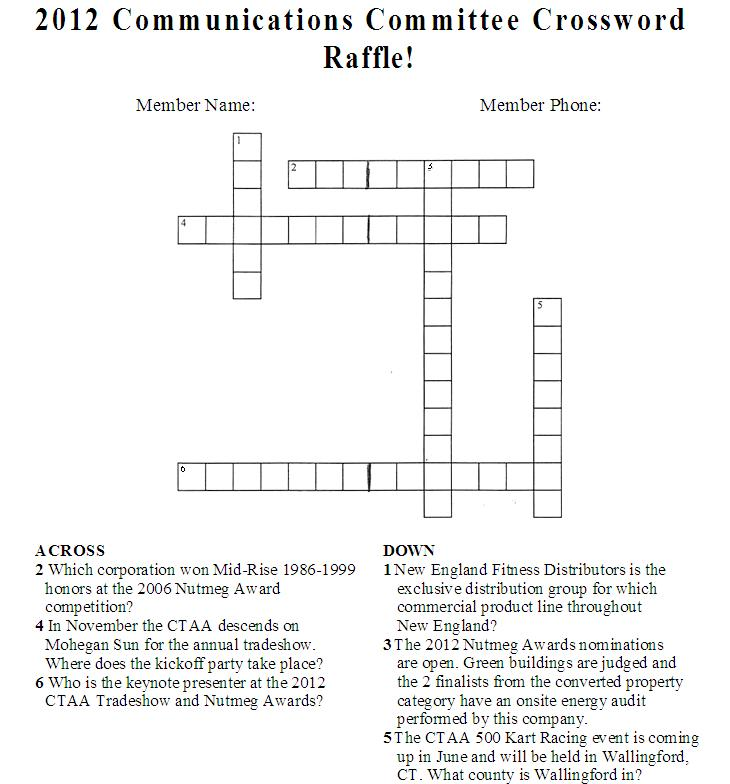 Free safety crossword puzzles