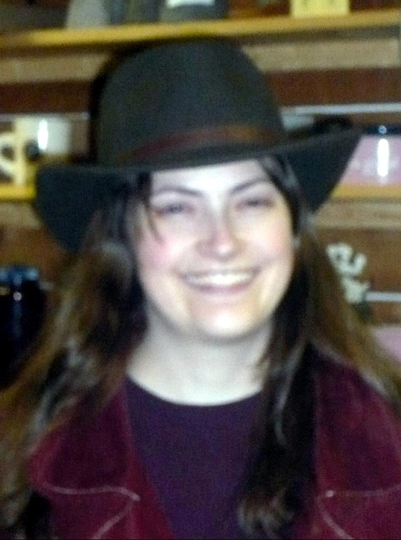 Sara and hat