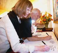 Signing Sangha Scroll