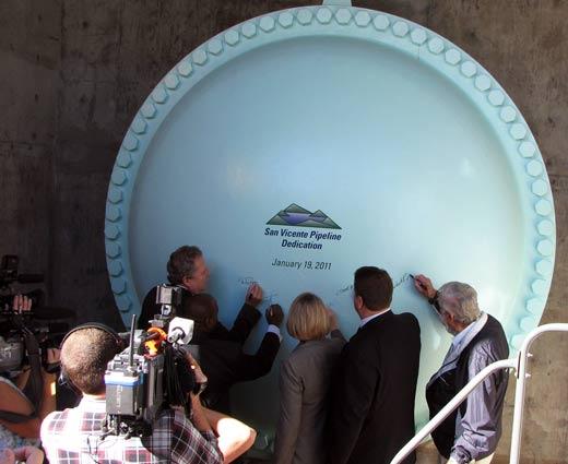 SVPL Bulkhead signing - Water Source