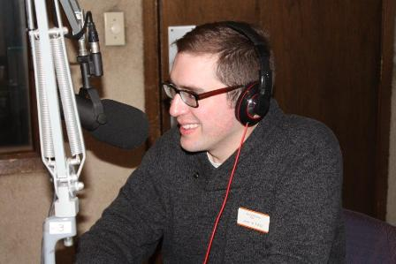Jason Echols, Health Care Consumer Protection Coordinator, being interviewed on the February 18, 2015 Don't Fall For It radio show.