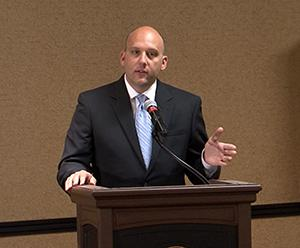 Jason Slowinski at the State of the City luncheon