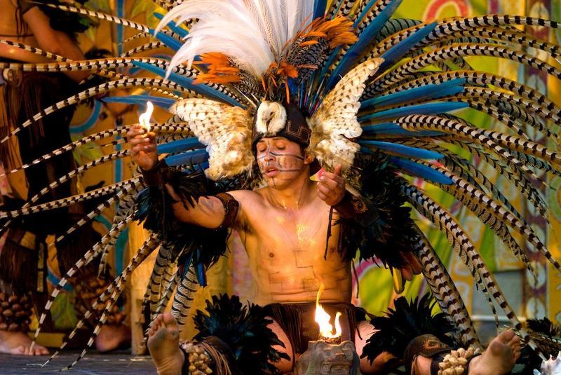 Aztec dancer fire