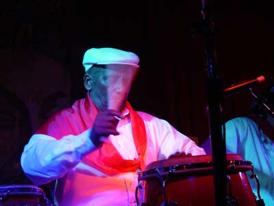 Aguabella Playing Drums