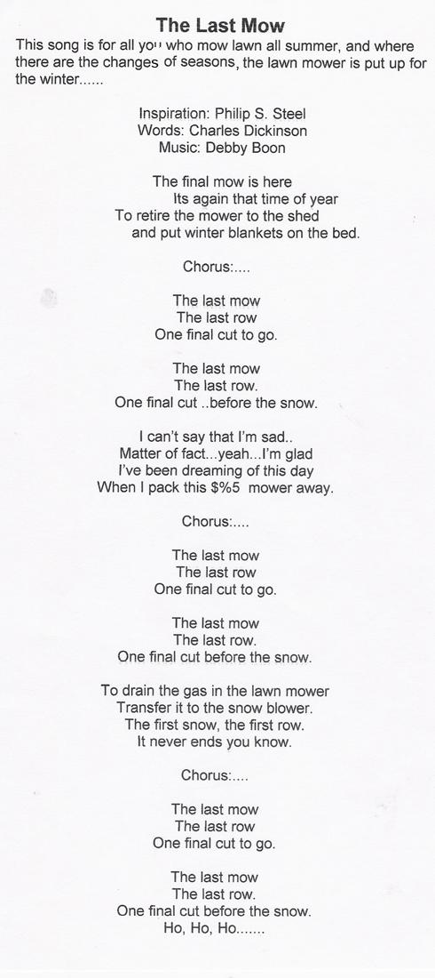 last mow...