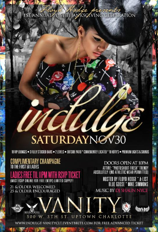 Vanity Charlotte, Black Friday Party, Dominican Getaway Under USD 400 and more