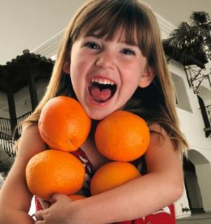 Girl Oranges