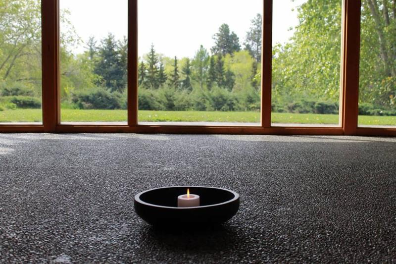 Candle in chapel