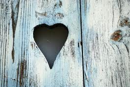 door with a heart