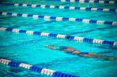 Swimmer in Lane underwater