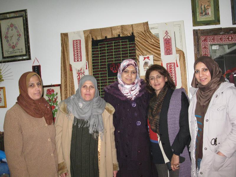 Staff of Women's Center at Gaza,with Unaiza