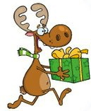 moose with present clip art