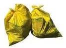 yellow garbage bags