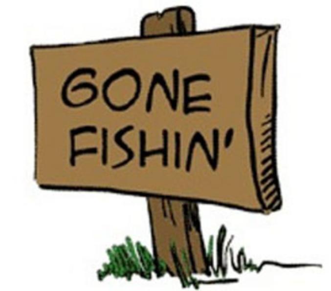gone fishin' sign