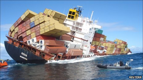 Cargo Vessel Hits Reef