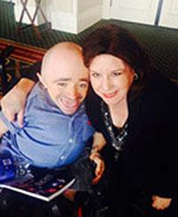 Dr. Sean Stephenson and Linda Hollander