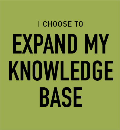 I Choose to Expand My Knowledge Base