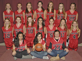 8th grade girls basketball took 3rd in conference and second in the