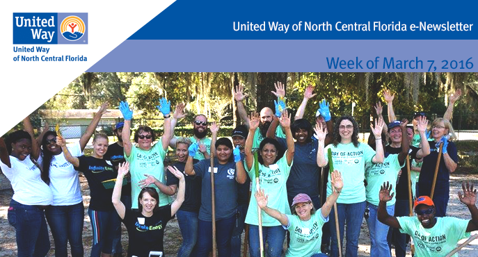 United Way of North Central Florida Electronic Newsletter for the week of March 7_ 2016