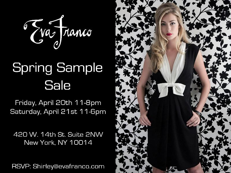 First EVER Eva Franco Sample Sale in NYC!