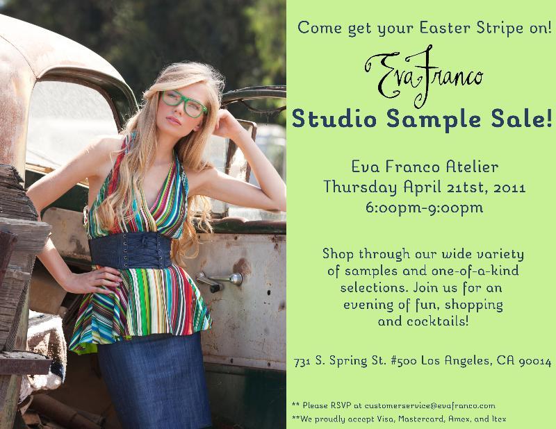 Eva Franco Studio Sample Sale