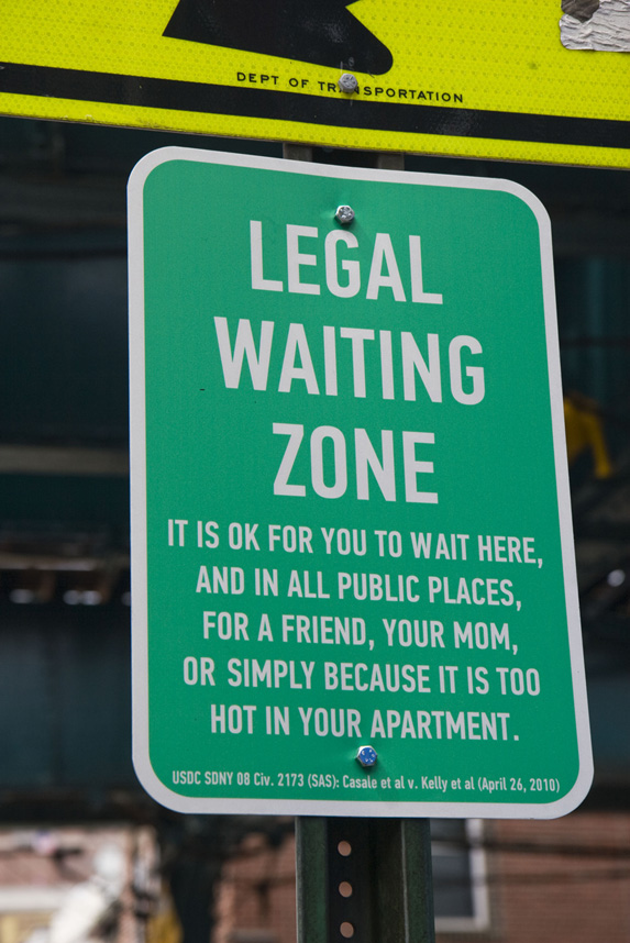 Ghana Think Tank, Legal Waiting Zone Sign