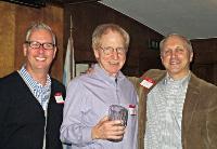 Instruction Award winner Bob Lapin (center), Chairman Chris Schuler, Lead Instructor Matt Stuczynski