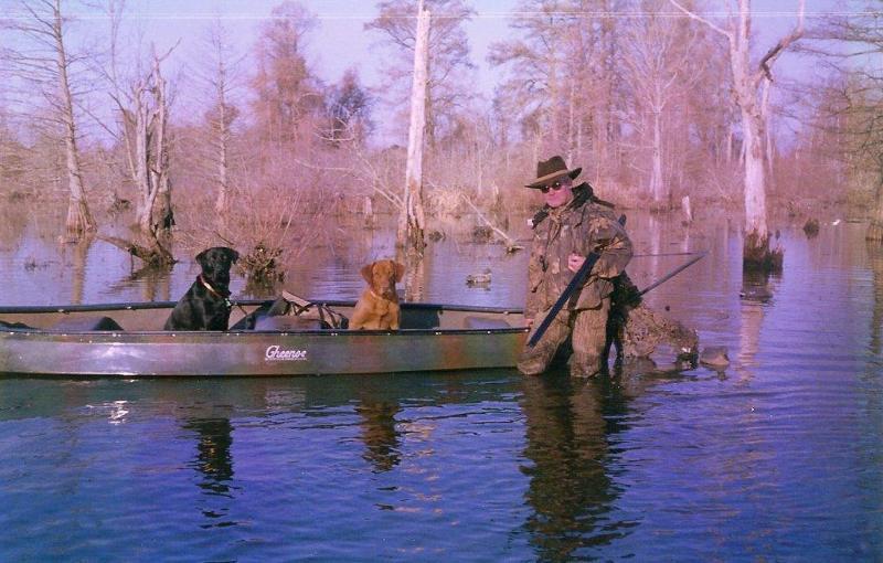 pair in canoe- beaver dam
