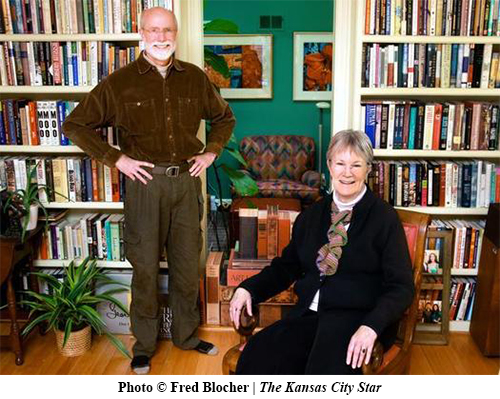 Roger & Vivien at Home with their Books