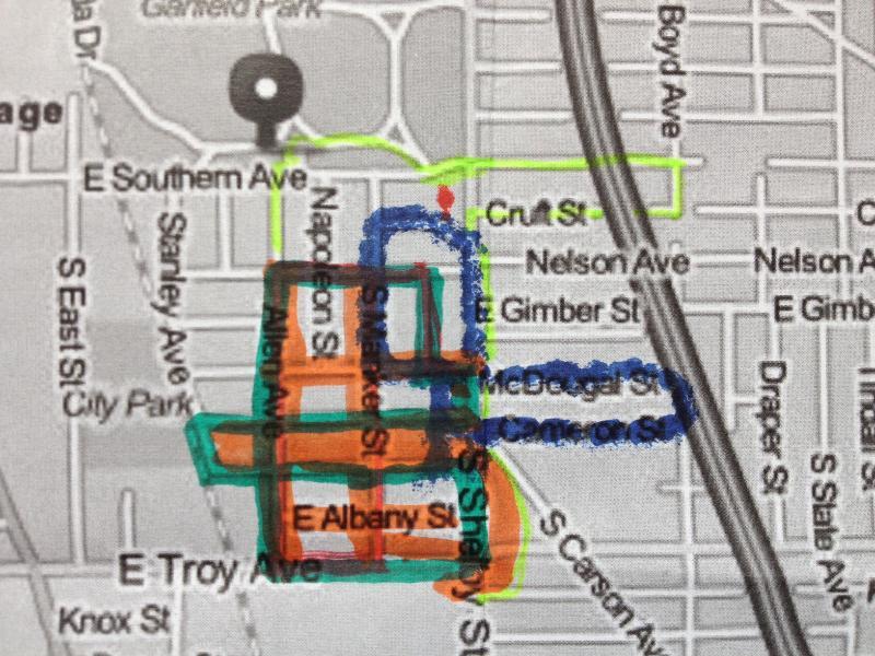Prayer Walk Map- Garfield Park
