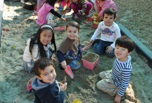 Preschool in the sand box