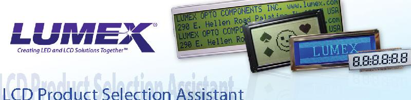 LCD Selection Assistant Guide Header