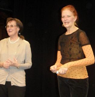 Kathleen with translator, Maria