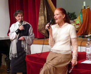 Maria translating Kathleen