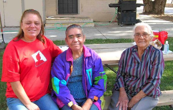 Three women receiving treatment