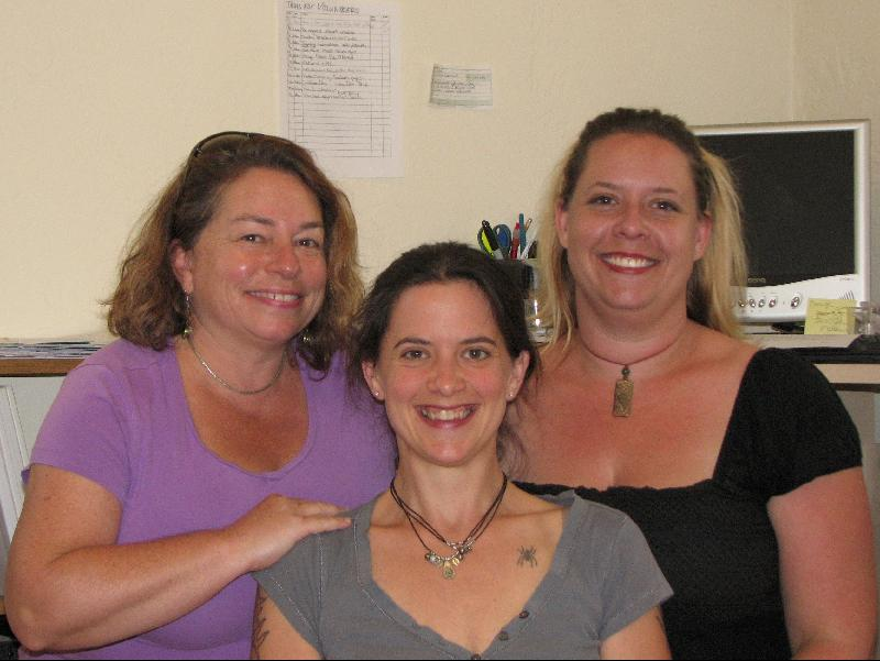 Lisa, Diana and Gretchen in the office