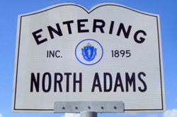 Entering North Adams sign