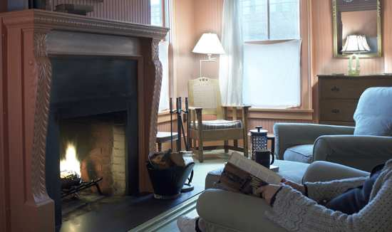 Fireplace Suite at The Porches Inn