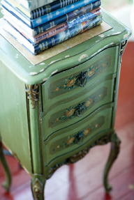 Vintage nightstand at The Red Lion Inn