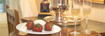 Chocolate-Covered Strawberries & Champagne at The Red Lion Inn