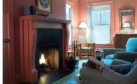 Fireplace Room at The Porches Inn
