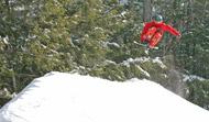 Snowboard jump at Ski Butternut