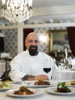 Chef Brian J. Alberg in the Main Dining Room