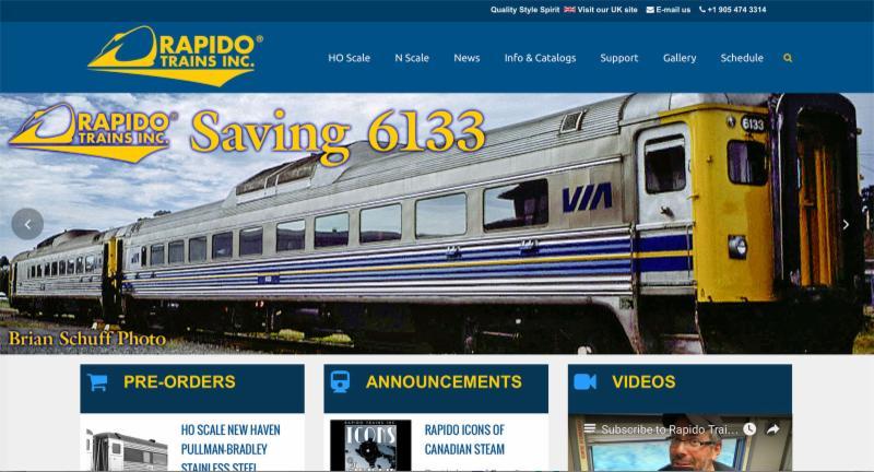 Rapido Web site